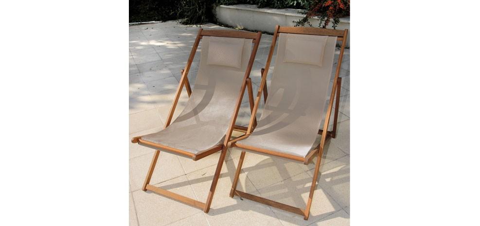 Dans mon jardin miss chocor ve - Chaise longue en bois et toile ...