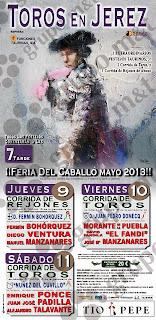 Jerez de la Frontera - Feria del Caballo 2013 - Cartel Taurino