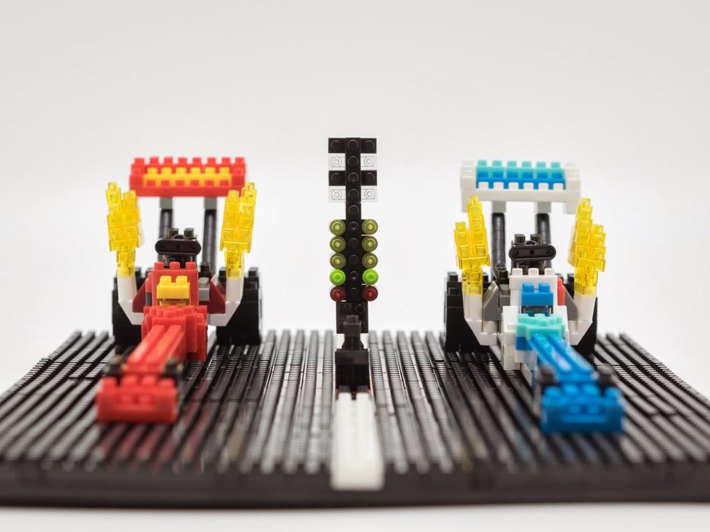 ナノブロックで作ったドラッグレース