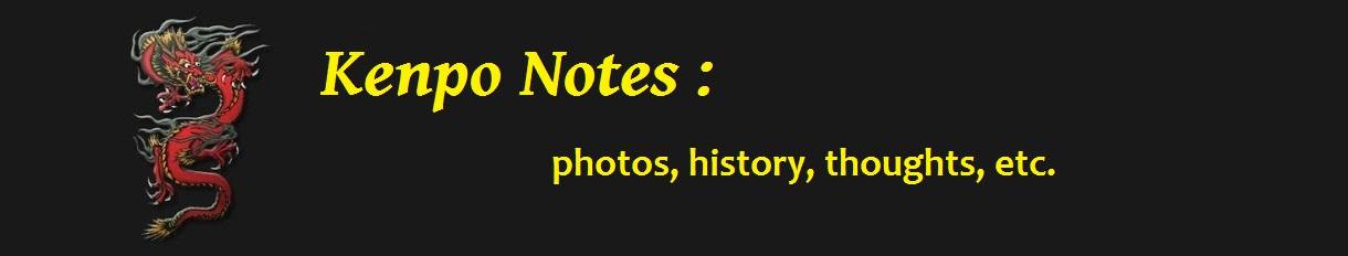 Kenpo Notes