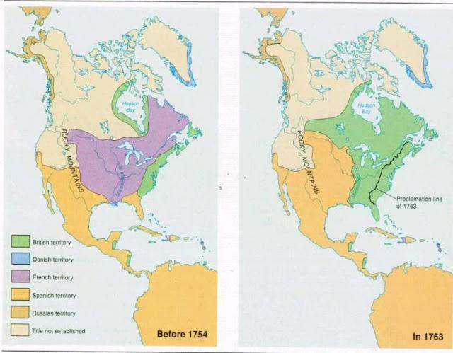 US HISTORY TIPS Map 1763 Treaty of Paris