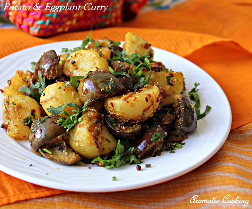 Aromatic cooking potato and eggplant curry forumfinder Choice Image