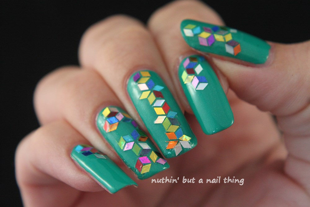 nuthin\' but a nail thing: Sequin nail art