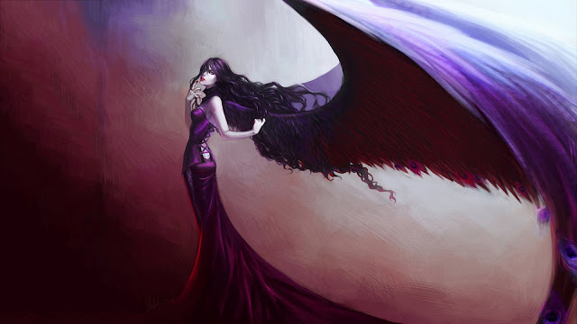 Fallen Angel Artwork HD Wallpaper