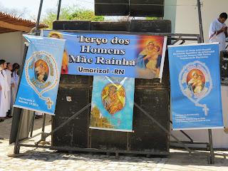 Imágens do 2° encontro Diocesano do Terço dos Homens em Almino Afonso - RN.