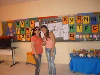 Professora do AEE, Natália (á direita) com Elisabete professora de Bela Cruz