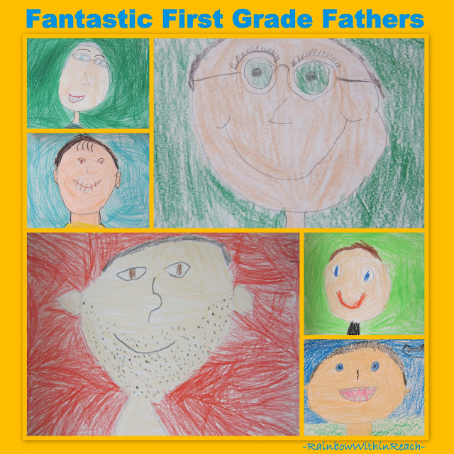 photo of: Drawings of fathers for Father's Day