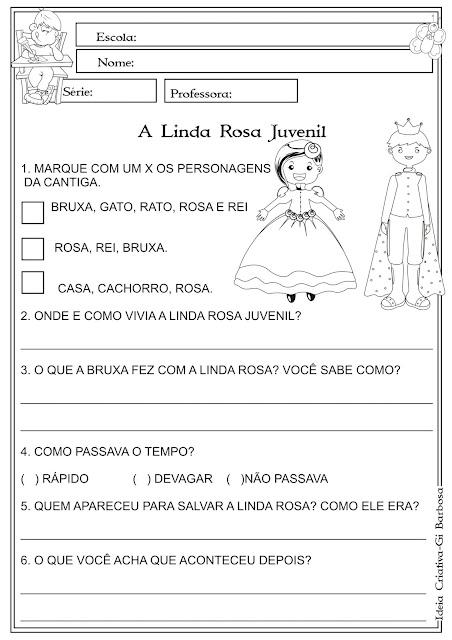 Atividade Música na Escola A Linda Rosa Juvenil