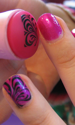 Easy diy nail art stamping kit for all ages bargains galore bottom line the diy stamping nail art kit is really fun to use i know people that pay good money at the salon for nail designs prinsesfo Image collections