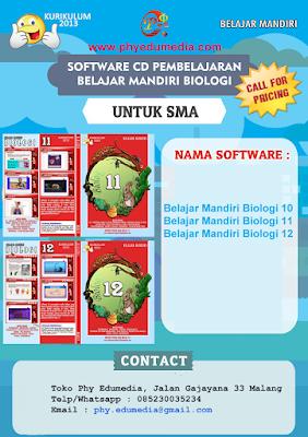 JUAL SOFTWARE CD PEMBELAJARAN BIOLOGI SMA KURIKULUM 2013