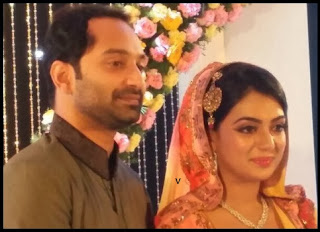 Fahad Fazil and Nazriya Nazin on their Engagement day