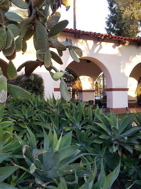 Mission style garden at the Bowers Museum, Santa Ana, CA
