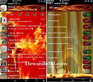 BBM Mod Vfire Apk 2.8.0.21 + Cover UI