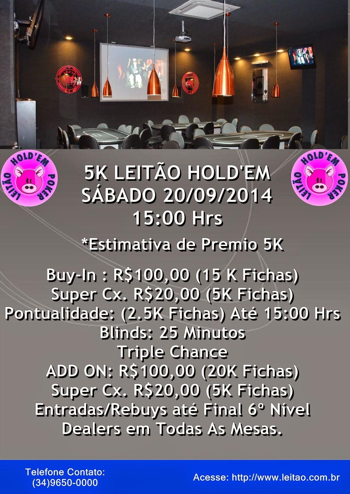 TORNEIO 5K LEITÃO HOLD' EM
