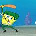 لعبة سبونج يلعب البيسبول