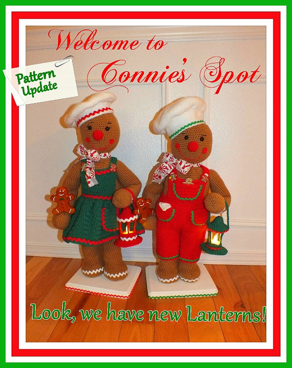 Chip & Cookie Christmas Gingerbread Doll Pattern© Updated!! By Connie Hughes Designs©