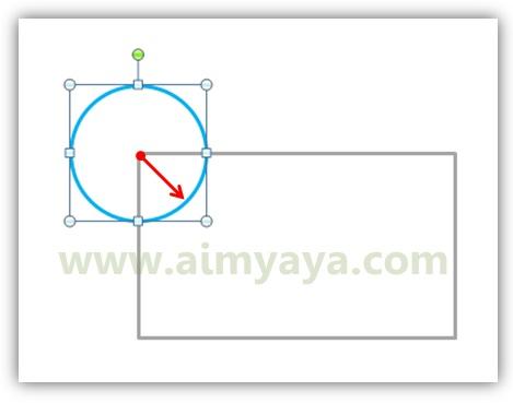 Gambar: Membuat lingkaran dengan memanfaatkan tombol keyboard CTRL+SHIFT