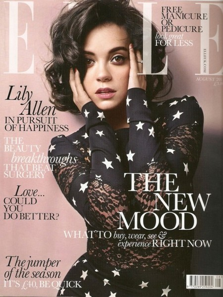 Lily Allen On Elle Magazine Cover Page