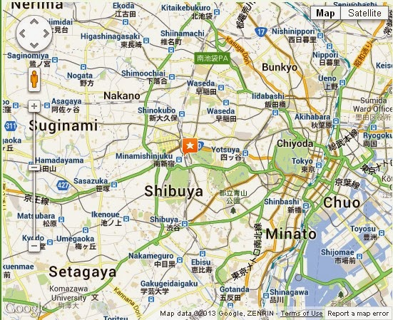 Detail Shinjuku Tokyo Japan Location Map – Tourist Map Of Japan English