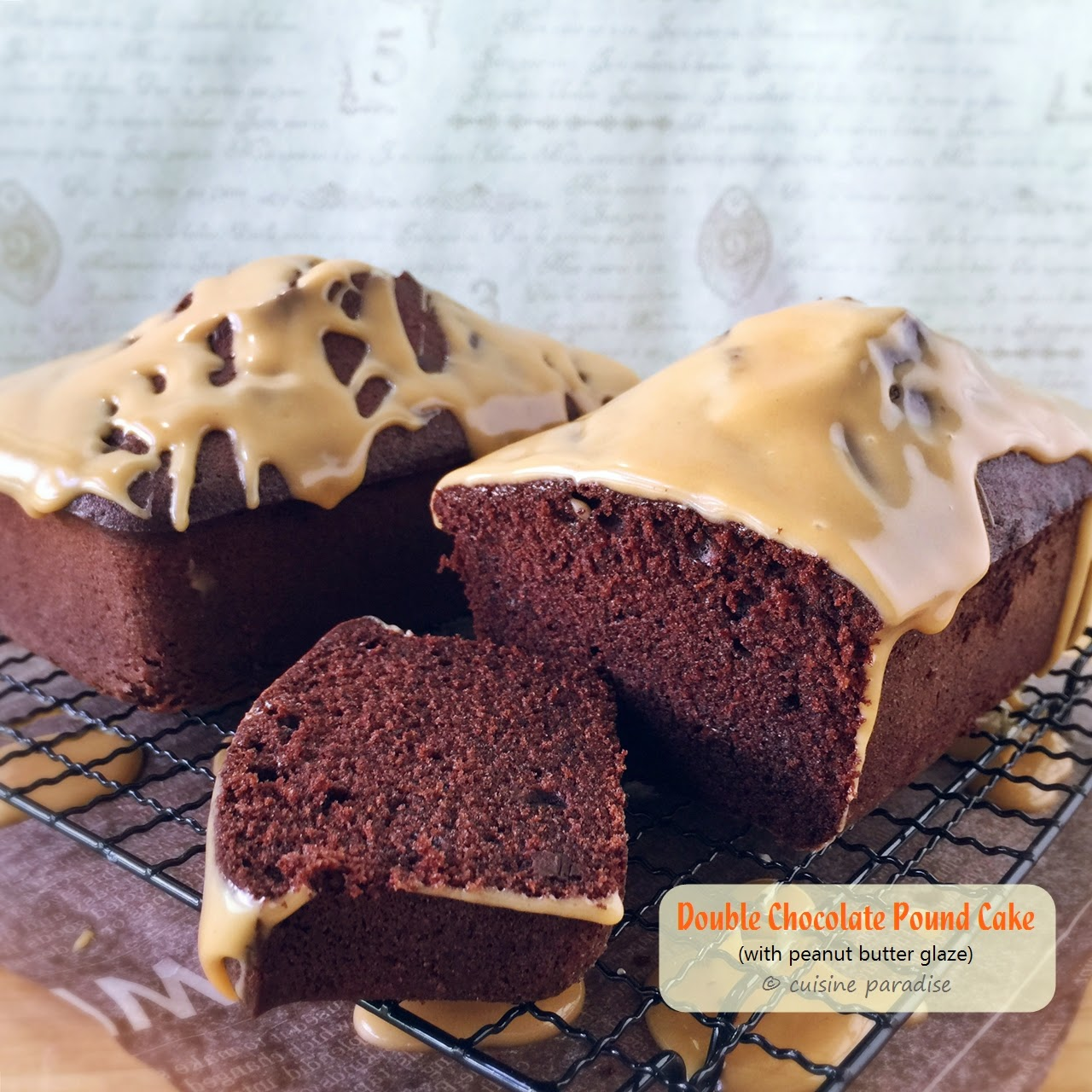 Chocolate Chip- Peanut Butter Pound Cake With Peanut Butter Glaze ...