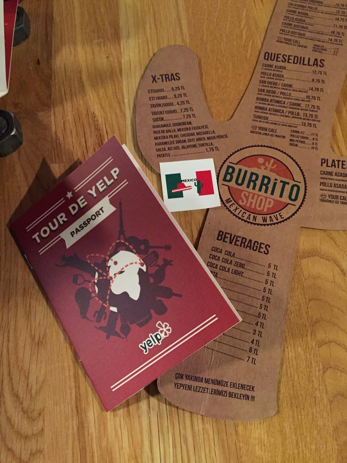 Yelp kesif - Burrito shop - meksika yemegi