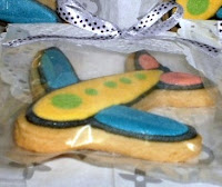 plane fancy cookies