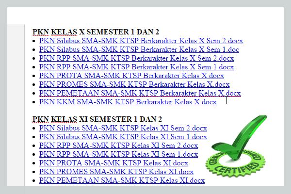 PERANGKAT PEMBELAJARAN KURIKULUM 2006/KTSP SMA/SMK PKN KELAS X XI DAN XII