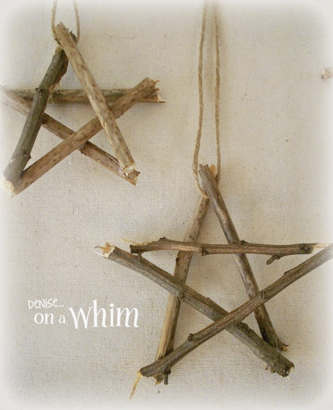 DIY Stars Made out of Twigs via Denise on a Whim