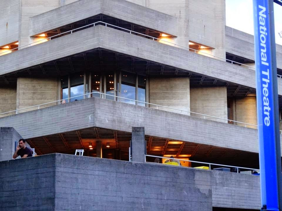 Concrete Balconies of National Theatre, London, Southbank