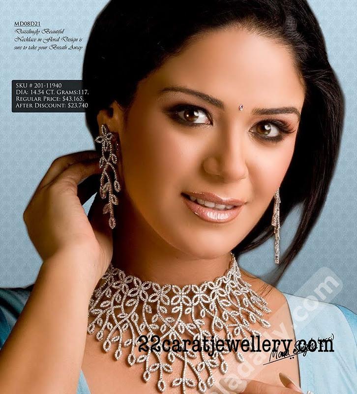 Diamond Necklace Sets by Malani Jewellers | Jewellery Designs