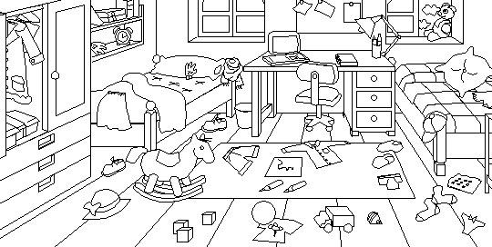 Dormitorio Dibujo ~ Dibujo dormitorio para colorear Imagui