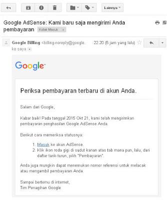 Email Gajian Adsense