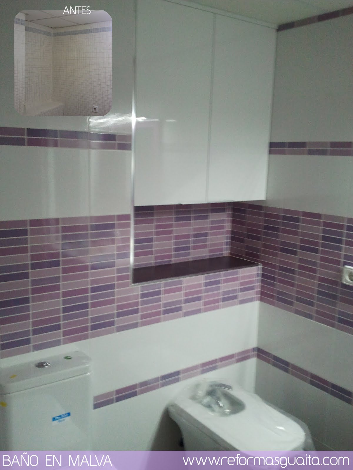 Muebles Baño Blanco Roto:Download Un baño morado con toques malva, lila y rosa