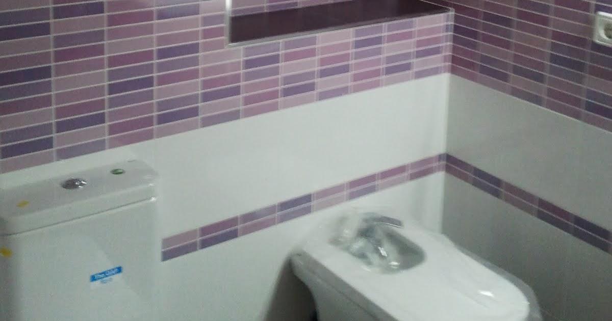Un baño morado con toques malva, lila y rosa ~ Reformas Guaita