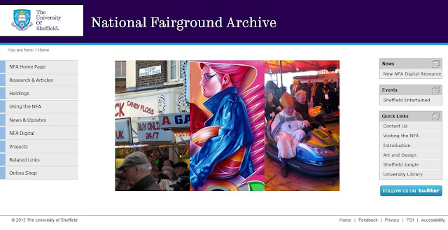 National Fairground Archive screenshot