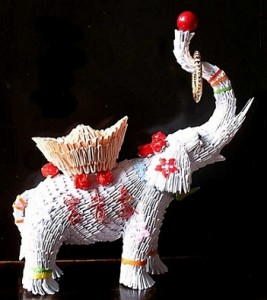 Check Out The 3d Origami Circus Elephant