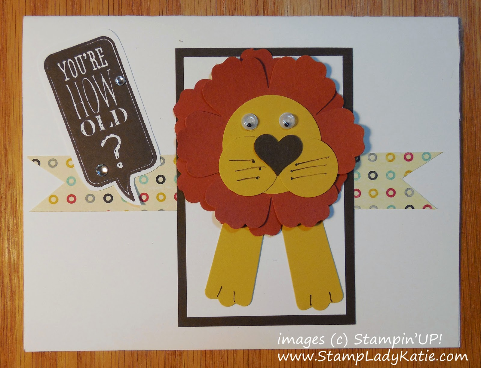 Punch Art Lion card