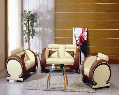 Modern Sofa Sets - One can cover the sofa with precious materials in