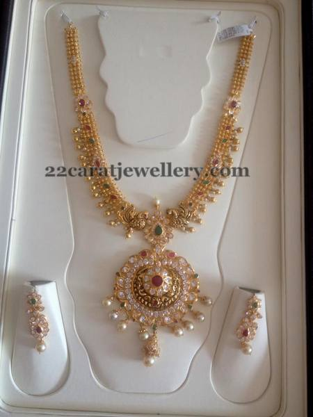 Gold Swirls CZ Necklace