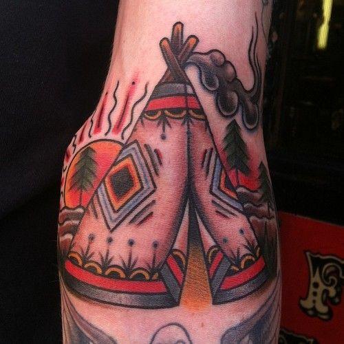 tatuajes Tepee Indio