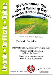 """Diploma """"dia mundial da caminhada"""" 08/05/2018"""