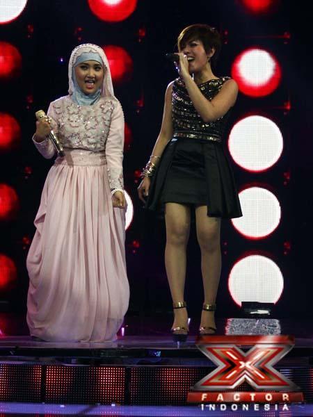 Novita dan Fatin (2 Besar Finalis X Factor Indonesia)