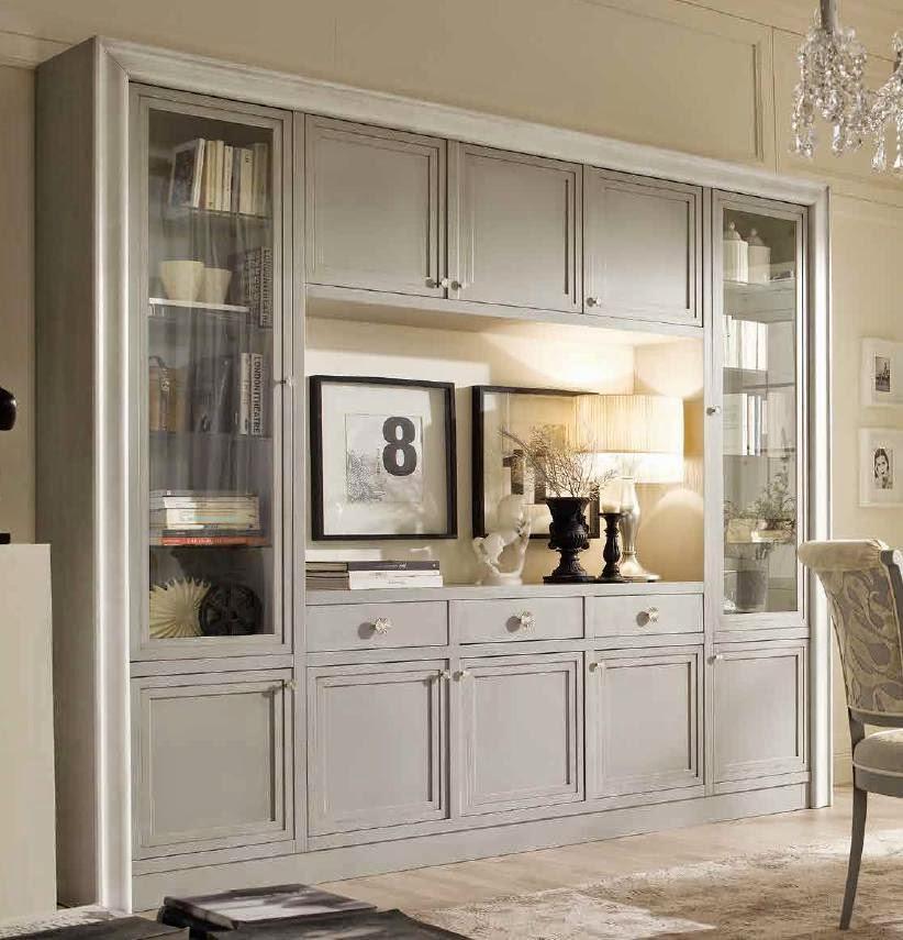 Libreria, parete attrezzata con cornice a quadro, vetrina portatv ...
