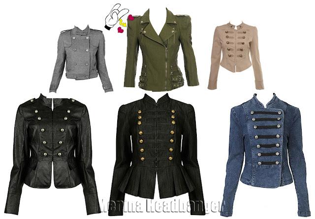 jaquetas de couro e jaqueta militar
