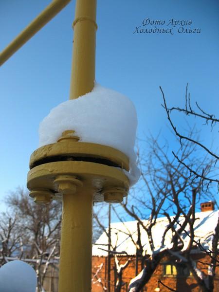 Шапка снега