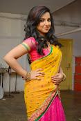 Leema glamorous photos in half saree-thumbnail-1