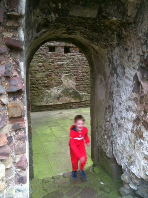 hide and seek at Brough Castle