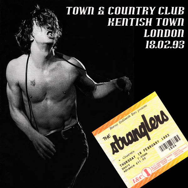 aural sculptors the stranglers live town and country club london 18th february 1993. Black Bedroom Furniture Sets. Home Design Ideas