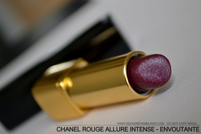 Chanel Rouge Allure Luminous Intense Lipstick Indian Beauty Blog Printemps Precieux Spring 2013 Makeup Collection Berry Plum Dark Colour Envoutante 116 Review Swatch FOTD Looks