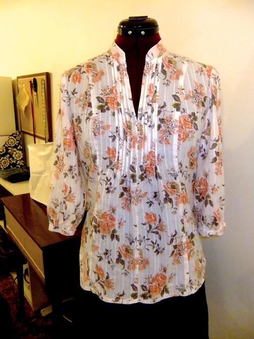 Trumbelina Sews Pattern Review Simplicity 3786 A Pintuck Shirt